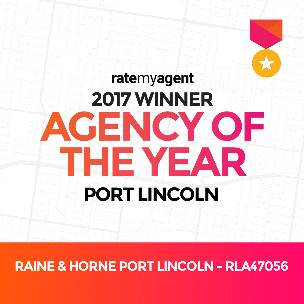 RateMyAgent Agency of the year 2017 Port Lincoln