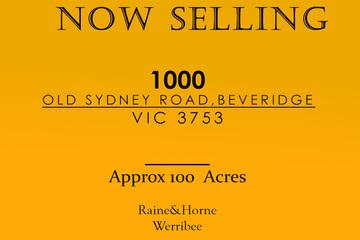 Recently Sold 1000 OLD SYDNEY ROAD, BEVERIDGE, 3753, Victoria