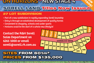 Recently Sold Lot 58 'On Horizons', Cornelius Drive, SORELL, 7172, Tasmania
