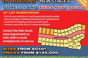 Recently Sold Lot 59 On Horizons, Cornelius Drive, SORELL, 7172, Tasmania