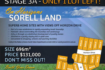 Recently Sold Lot 83 On Horizons, SORELL, 7172, Tasmania
