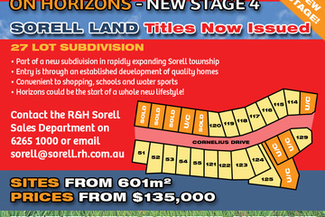 Recently Sold Lot 120 'On Horizons', Cornelius Drive, SORELL, 7172, Tasmania