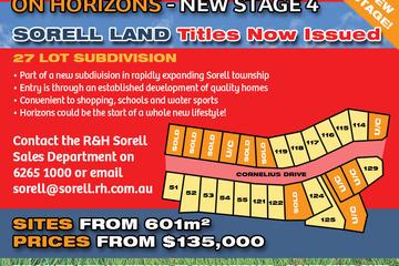 Recently Sold Lot 53 'On Horizons', Cornelius Drive, SORELL, 7172, Tasmania