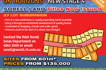 Recently Sold Lot 125 'On Horizons', Cornelius Drive, SORELL, 7172, Tasmania