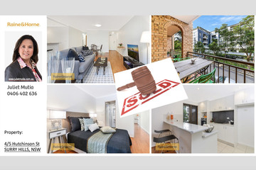 Recently Sold 4/5 Hutchinson Street, SURRY HILLS, 2010, New South Wales