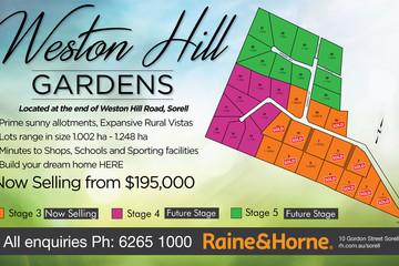 Recently Sold Lot 8 Weston Hill Gardens (off Weston Hill Road), SORELL, 7172, Tasmania