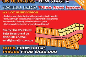Recently Sold Lot 113 'On Horizons', Cornelius Drive, SORELL, 7172, Tasmania