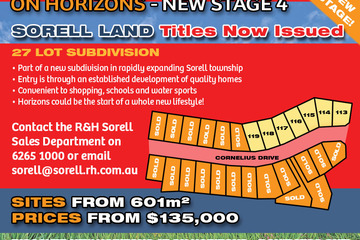 Recently Sold Lot 116 'On Horizons', Cornelius Drive, SORELL, 7172, Tasmania
