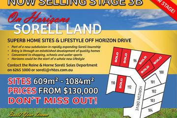 Recently Sold Lot 96 Horizon Drive, SORELL, 7172, Tasmania