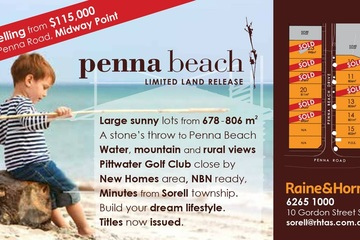 Recently Sold Lot 20, 260 Penna Road, MIDWAY POINT, 7171, Tasmania