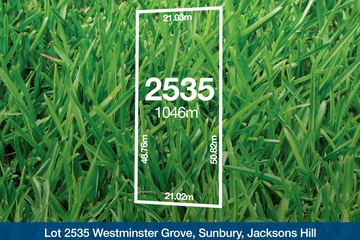 Recently Sold Lot 2535 Westminster Grove, SUNBURY, 3429, Victoria
