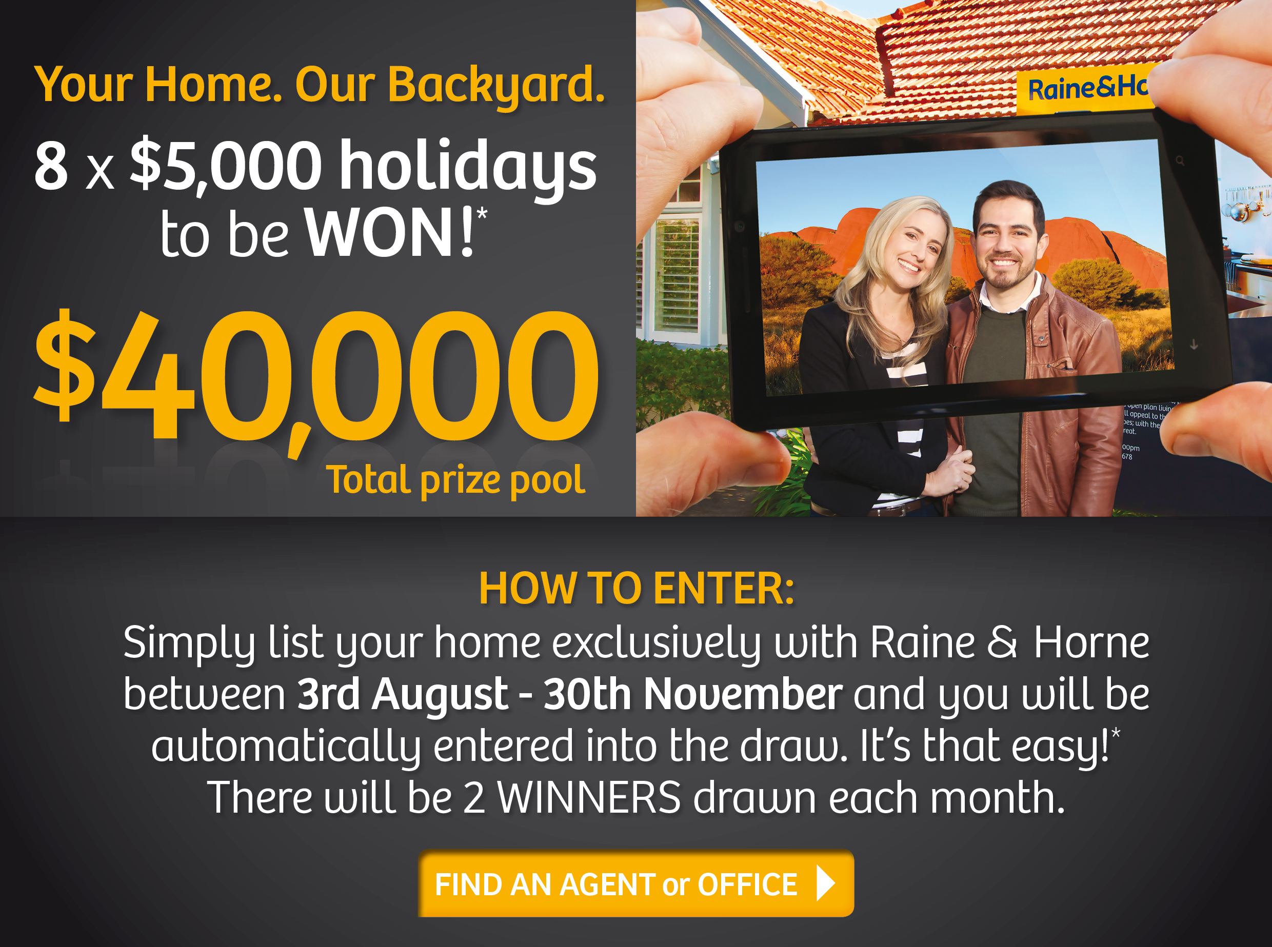 Raine & Horne Backyard Competition