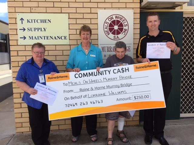 Meals on Wheels - Murraylands Community Cash