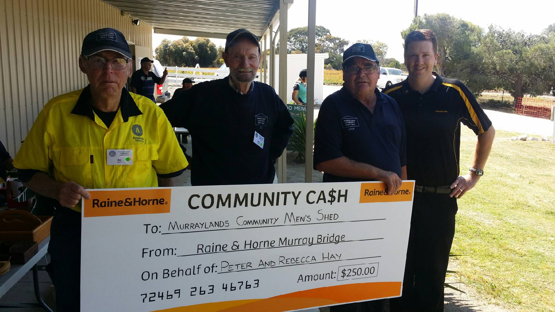 Community Cash - Mens Shed Murray Bridge