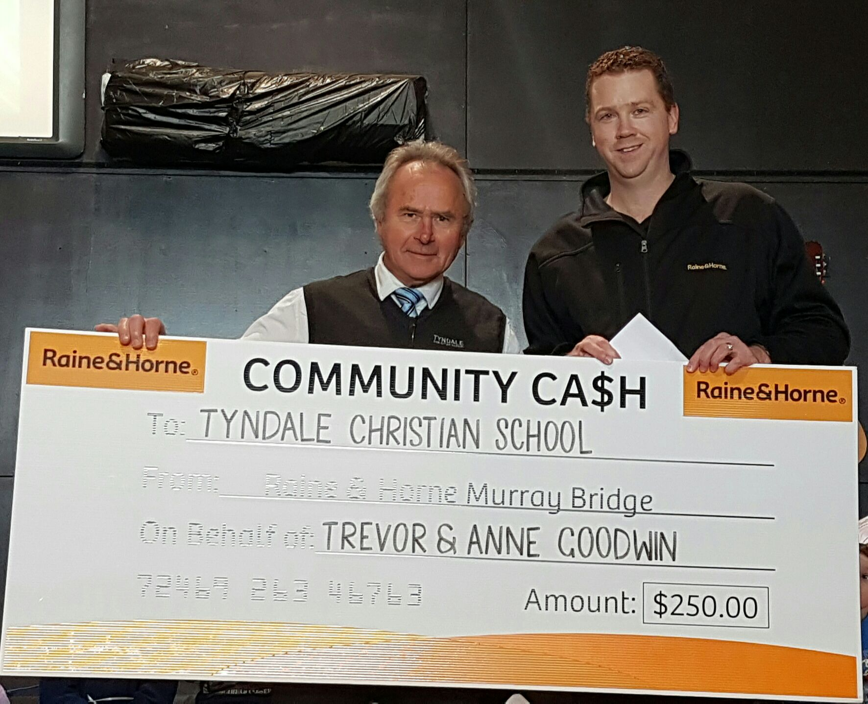 Tyndale Christian School - Community Cash