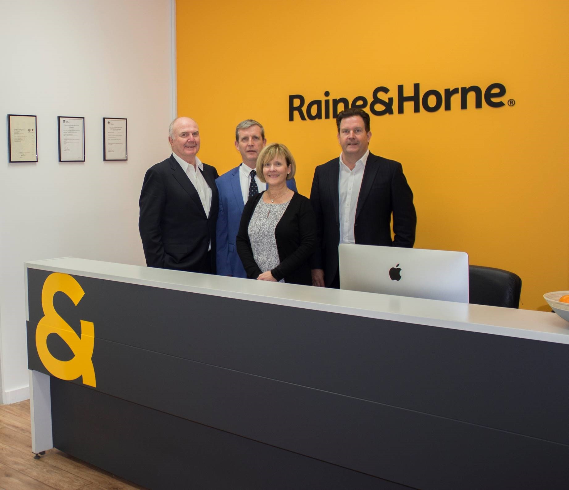 RH Hornsby opening - Brian Reid, Chris and Susie Hopkins, Angus Raine