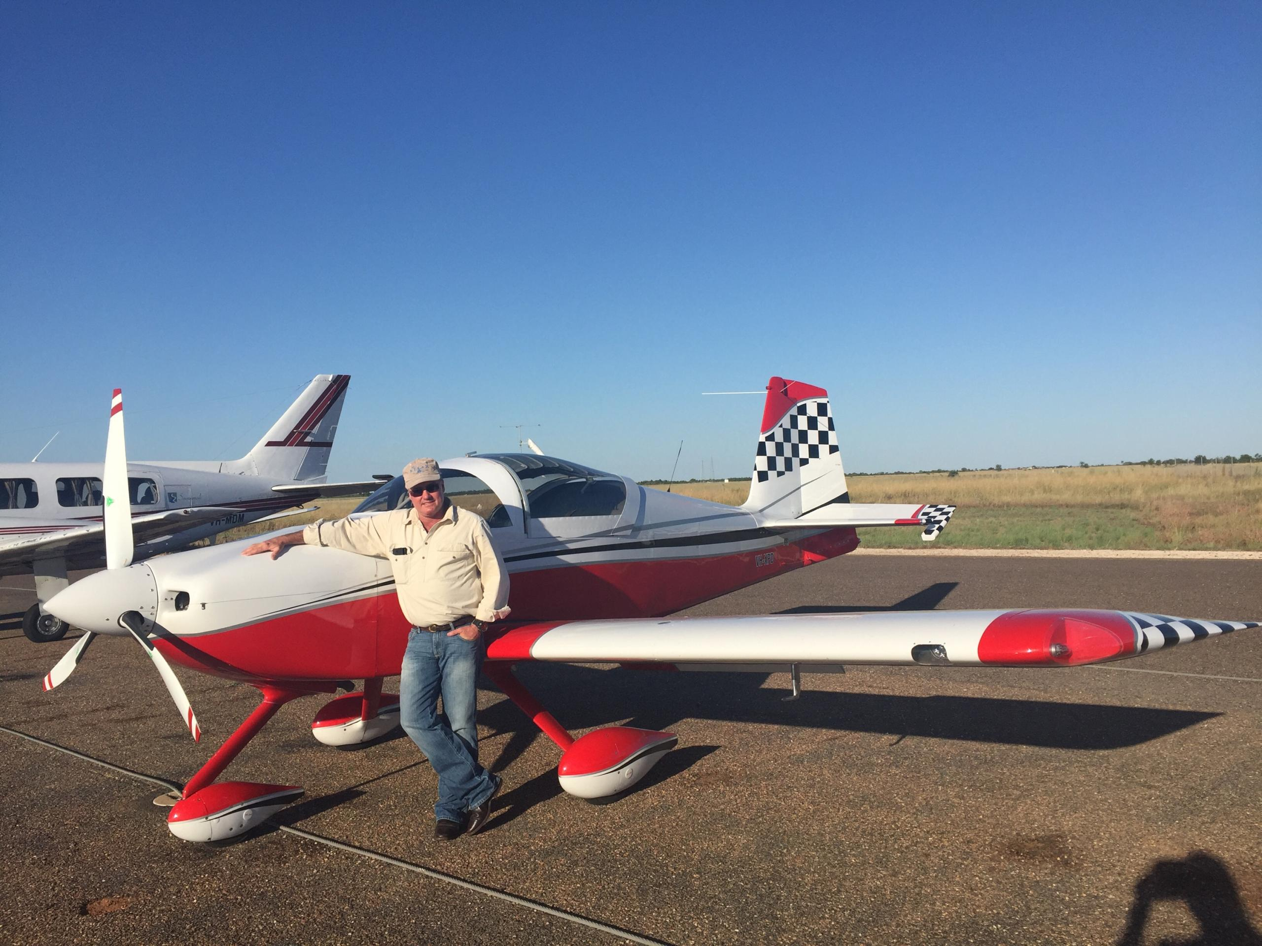 Bram Pollock with his trusty RV-7A