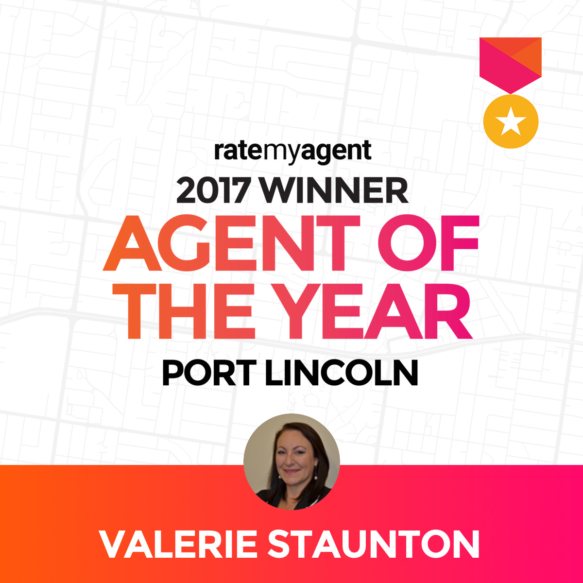 RateMyAgent Agent of the year 2017 Port Lincoln