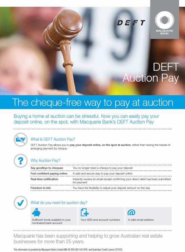 DEFT Auction Pay