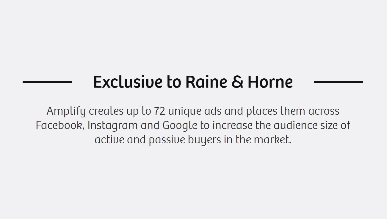 Exclusive to Raine & Horne