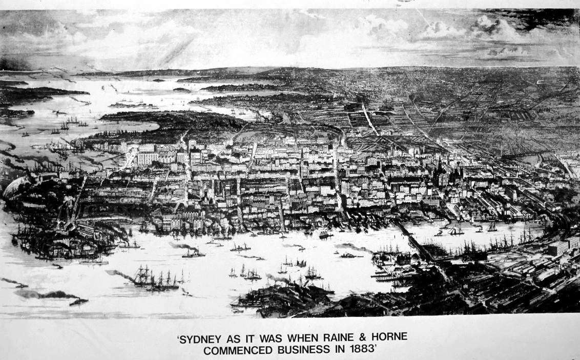 Sydney as it was when Raine&Horne opened in 1883