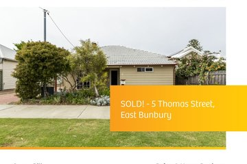 Recently Sold 5 THOMAS STREET, BUNBURY, 6230, Western Australia