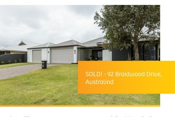 Recently Sold 92 Braidwood Drive, AUSTRALIND, 6233, Western Australia