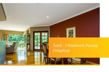 Recently Sold 7 Maidment Parade, DALYELLUP, 6230, Western Australia