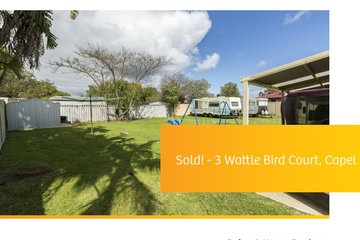 Recently Sold 3 WATTLE BIRD COURT, CAPEL, 6271, Western Australia
