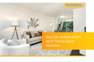 Recently Sold 18/17 TARANTO ROAD, Marsfield, 2122, New South Wales