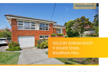 Recently Sold 9 Vincent Street, Baulkham Hills, 2153, New South Wales