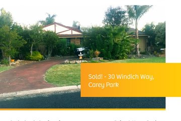 Recently Sold 30 Windich Way, CAREY PARK, 6230, Western Australia