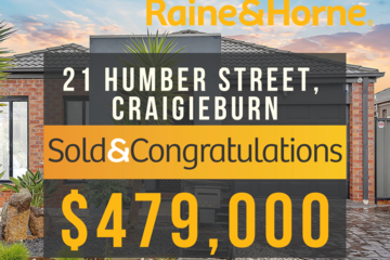 Recently Sold 21 Humber Street, Craigieburn, 3064, Victoria