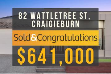 Recently Sold 82 Wattletree Street, Craigieburn, 3064, Victoria