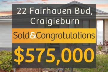 Recently Sold 22 Fairhaven Boulevard, Craigieburn, 3064, Victoria