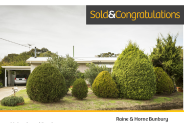 Recently Sold 32 Goodwood Road, Capel, 6271, Western Australia