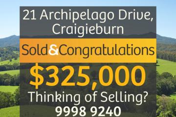 Recently Sold 21 Archipelago Drive, Craigieburn, 3064, Victoria