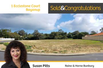 Recently Sold 1 Ecclestone Court, Boyanup, 6237, Western Australia